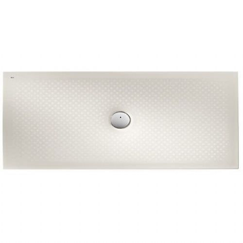 Roca In Floor Anti-Slip Rectangular Shower Tray - 1400mm x 700mm - Edelweiss